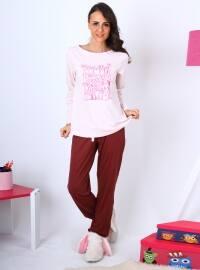 Pesi Pijama Takımı - Açık Pembe - Meliana