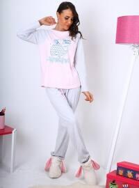 Vosy Pijama Takımı - Açık Pembe - Meliana