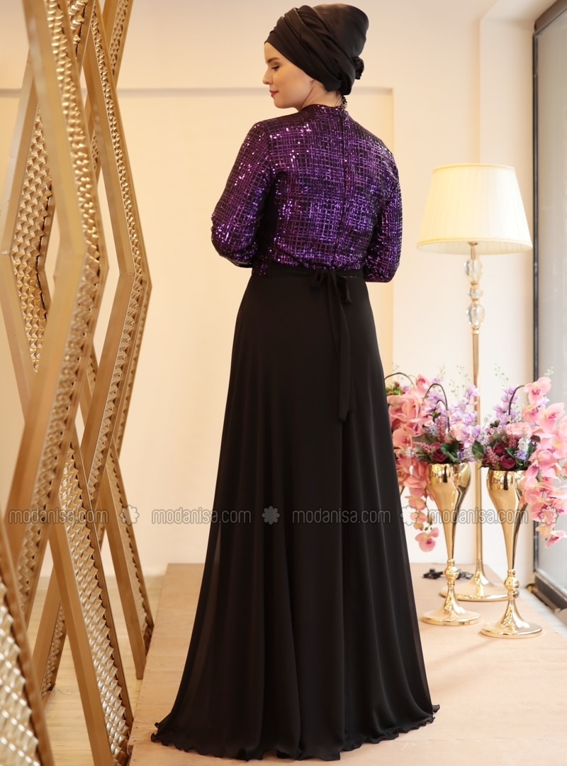 Robe noir et rose grande taille