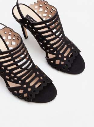 Topuklu Ayakkabı - Siyah - Mango Ürün Resmi