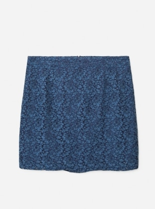 Blue - Fully Lined - Skirt - Violeta by Mango