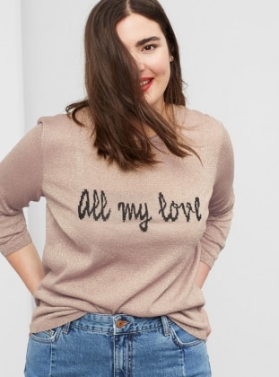 Beige - Crew neck - Jumper - Violeta by Mango
