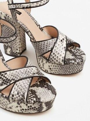Topuklu Ayakkabı - Beyaz - Mango Ürün Resmi