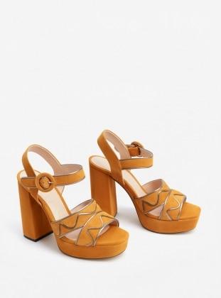 Sandalet - Koyu Sarı - Mango Ürün Resmi