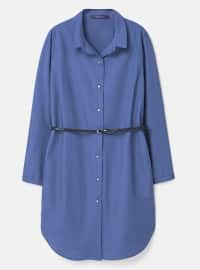 Blue - Point Collar - Unlined - Tunic