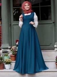 Kolsuz Elbise - Petrol - Cool Vera