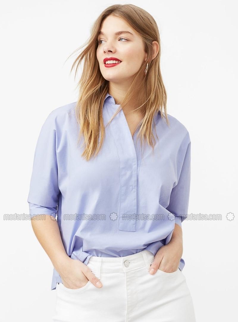 88d3ec6c9b8 Fotoğrafı büyütmek için tıklayın · Pink - Purple - V neck Collar ...