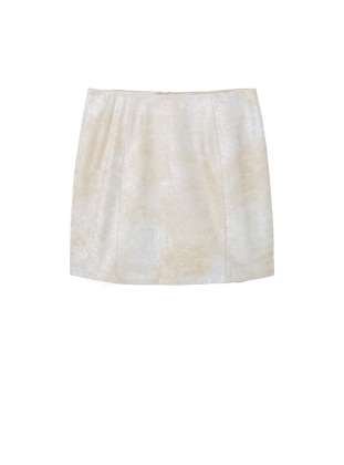 Beige - Fully Lined - Skirt - Violeta by Mango
