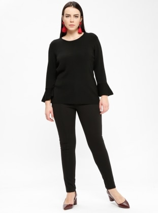 Black - Plus Size Leggings - Violeta by Mango
