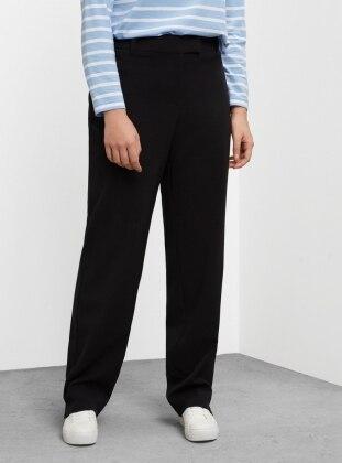 Dökümlü Pantolon - Siyah - Violeta by Mango Ürün Resmi