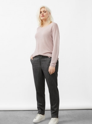 Pink - Crew neck - Jumper
