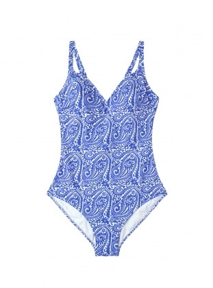 Blue - Multi - Fully Lined - Half Covered Switsuits