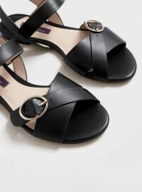 Sandalet - Siyah - Violeta by Mango
