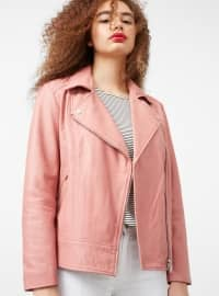 Pink - Fully Lined - Shawl Collar - Jacket
