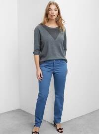 Pamuklu Modal Pantolon - Açık Mavi - Violeta by Mango