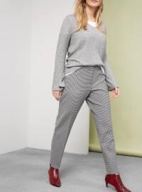 Vichy Desenli Pantolon - Siyah - Violeta by Mango