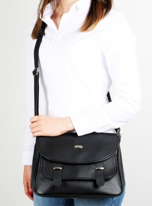 Black - Crossbody - Bag - Luwwe