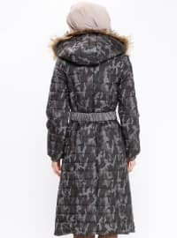 Polo neck - Fully Lined - Multi - Black - Coat