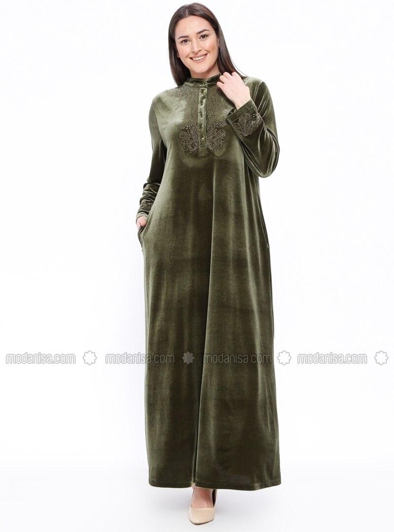 Unlined Polo Neck Plus Size Dress Ginezza