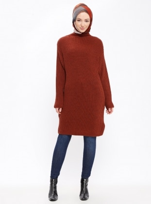 Tan - Polo neck - Tunic