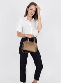 Brown - Satchel - Crossbody - Bag