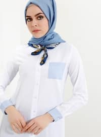 Blue - White - Point Collar - Tunic