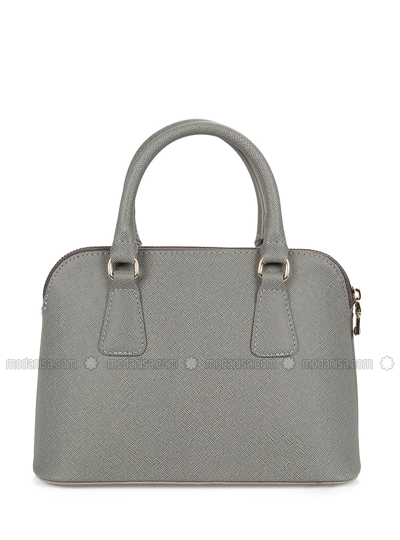 Gray - Satchel - Crossbody - Bag