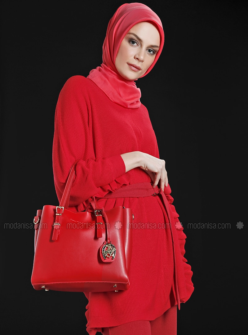Red - Satchel - Crossbody - Bag