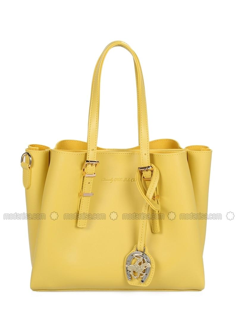 65ddd5fa4e710 Satchel - Yellow - Crossbody - Bag. Fotoğrafı büyütmek için tıklayın
