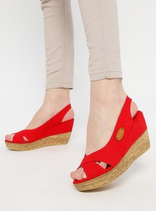 Red - Sandal - Shoes