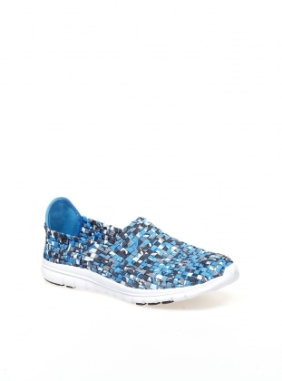 Blue - White - Sport - Casual - Shoes