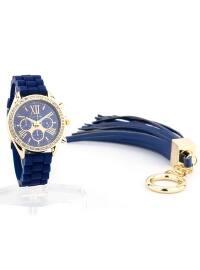 Bileklik Kombinli Saat - Lacivert - Jessica Carlyle