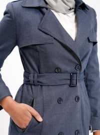 Navy Blue - Fully Lined - Shawl Collar - Topcoat