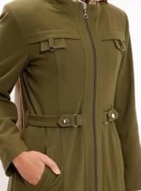 Polo neck - Fully Lined - Khaki - Topcoat
