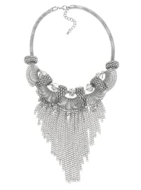 Zincir Saçaklı Kolye - Gümüş - Pelin Aksesuar