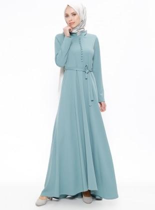 Düğme Detaylı Elbise - Nefti - ZENANE Ürün Resmi