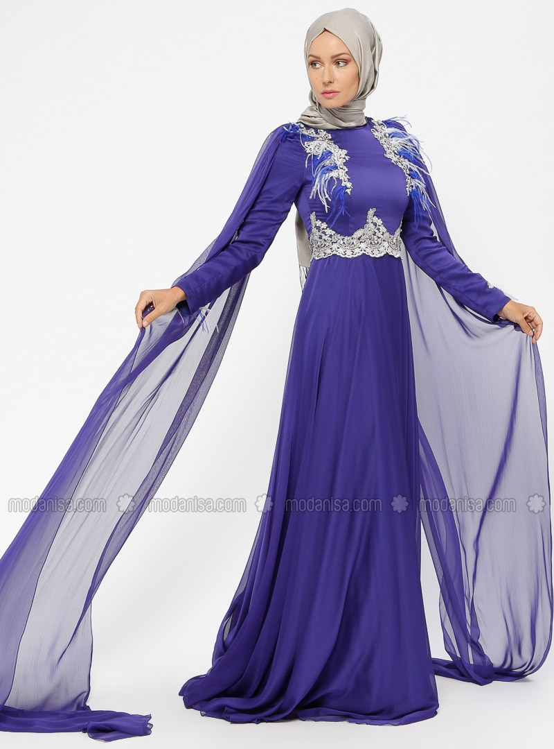 Saxe - Fully Lined - Polo neck - Muslim Evening Dress