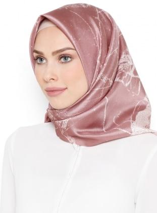 Pink - Printed - Scarf - Renkli Butik