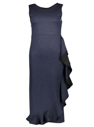 Navy Blue - Crew neck - Unlined - Dresses - Mileny 383716