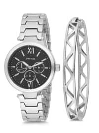 Saat&Bileklik İkili Set - Gümüş - Spectrum