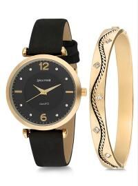 Saat&Bileklik İkili Set - Siyah - Spectrum