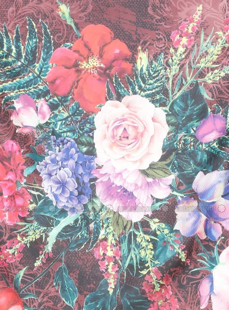 Rose Multicolore Floral A Motifs Echarpe