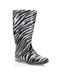 Çizme - Siyah Beyaz - Y-London