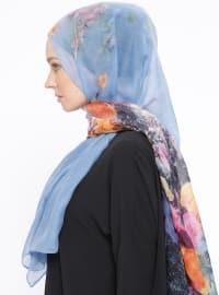 Printed - Blue - Shawl