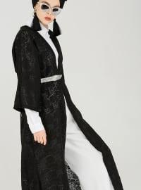 Dantelli Kimono - Siyah - Muni Muni