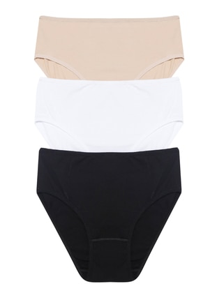 Black - White - Beige - Panties - ANIL