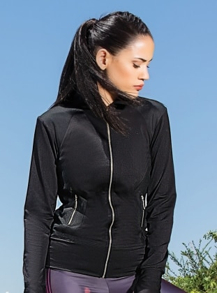 Black - Polo neck - Black - Polo neck - Sweat-shirt