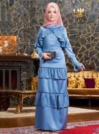 Angela Abiye Elbise - İndigo - Mevra