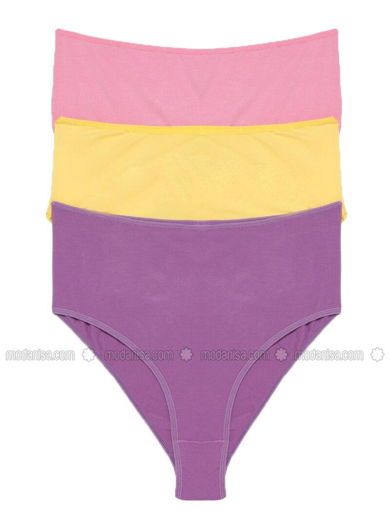 af7d74dbf8aa Yellow - Pink - Purple - Panties. Fotoğrafı büyütmek için tıklayın