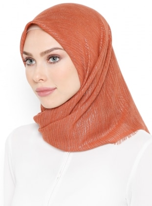 Orange - Tan - Plain - Scarf